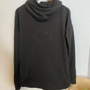 Calia  black funnel neck hoodie size large